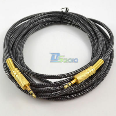 1.8m OFC 3.5mm Stereo Plug Male Jack to Male Audio Cable Cord For IPOD AUX MP3