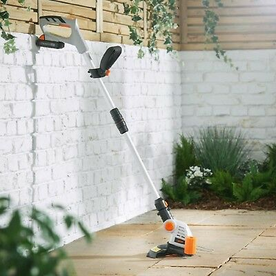 Cordless Grass Strimmer I Hour Charge Time Adjustable Height Garden Tool 25cm