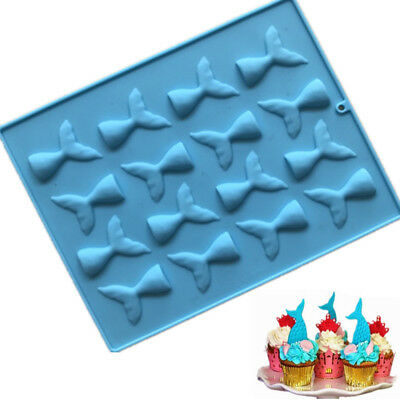 Mermaid Tail Cake Mold Jelly Cookies Soap Chocolate Baking Mould Tray Ice Cube