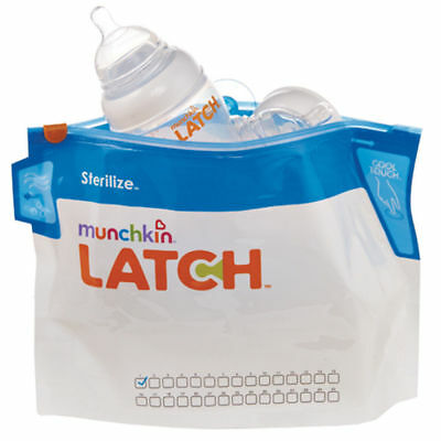 Munchkin Latch Steriliser Bag Travel Convenient 30 Uses Per Bag 6 Pack