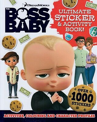 Dreamworks The Boss Baby Ultimate Sticker Activity Book BRAND NEW (P/B 2017)