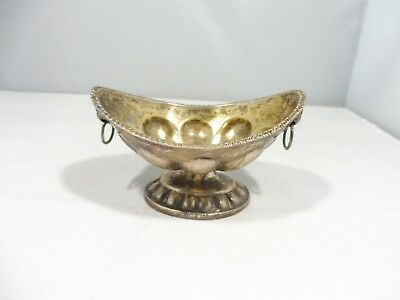 Very Old Russian Silver Diminutive Bowl With Lions Head Handles Hallmarked