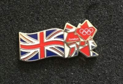 Sports Memorabilia Official Product Of London 2012 Pin Badge Union Jack Olympics Games Souvenir New Soft And Light London 2012