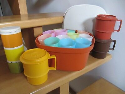 Lot Tupperware Vintage : Tasses, Yourtiere, Pots A Epices