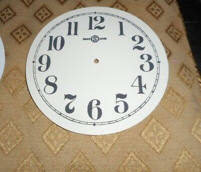 "Round Seikosha Paper Clock Dial -  5"" M/T - Arabic - White - Face / Clock Parts"