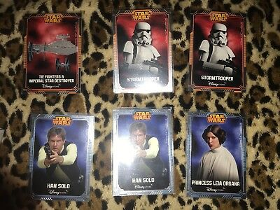 Star Wars Lote Trading Cards Exclusivos Tiendas Disney