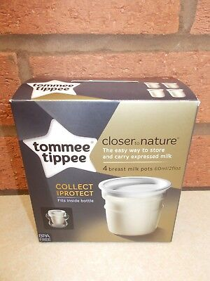 Tommee Tippee - 4 x BREAT MILK storage pots
