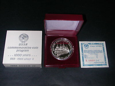 Lot Russland - 3 Rubel 1988 - Cathedral St. Sophie - PP - Silber Münze