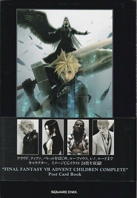 Final Fantasy VII 7 Post Card Book mit 24 Postkarten [ Japan-Sammlerstück ] NEU