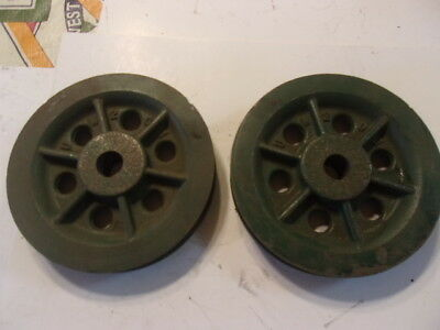 6 INCH SINGLE GROOVE PULLEY WITH 7/8ths INCH BORE STEAMPUNK?  UW201   FREE SHIP!