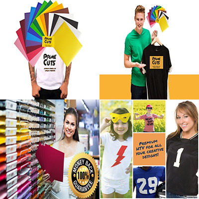 """HTV 15 Heat Transfer Vinyl Sheets Color Pack Gold Silver 12"""" X 10"""" For T Shirts"""