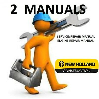 NEW HOLLAND Skid Steer C190 **2 MANUALS** SERVICE, ENGINE REPAIR, PDF