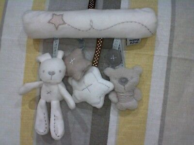 "Rabbit Teddy and Stars 8"" rattle mobile from Mqmqs and Pdpds"