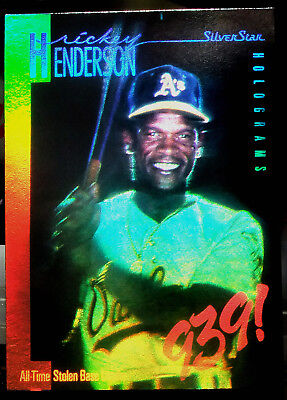 1991 Field of Vision,Ricky Henderson 939, Unique Hologram Card