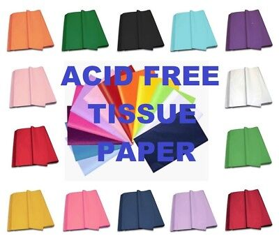 ACID FREE TISSUE PAPER - Tissue Sheets 75cm x 50cm - Available In 14 Colours