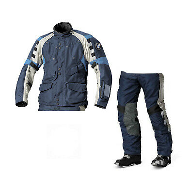 Bmw Rallye 4 Blue/Grey 2015 Motorcycle Touring Off Road Textile Suit, All Sizes
