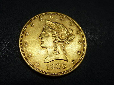 USA, 10 Dollar Gold ,1906, Coronet Head Eagle, vz-st !!!