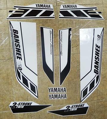 Yamaha banshee quad stickers graphics decal 10pc Special Edition Black/White ATV
