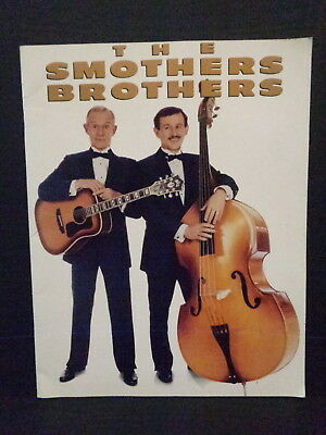 Smothers Brothers Collectors Book Sold At Concerts, Tom & Dick, Large Size, 1989