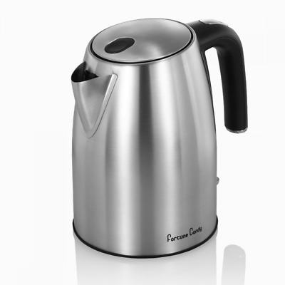 Stainless Steel Electric Kettle Tea Pot-Fast Boiling Water Kettle 1500W and 1.8L