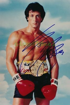 388 Sylvester Stallone, Autogramm Foto, 4x6 Inch, 102x152 mm