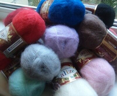 Yarn Alize Kid Royal mohair yarn wool blend yarn angora goat yarn кid mohair