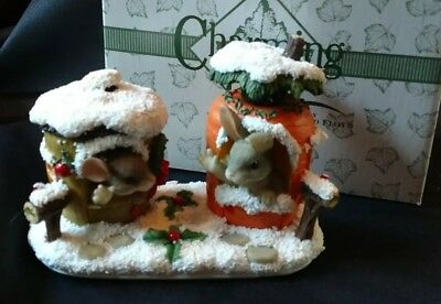 Christmas Mouse Bunny Charming Tails From Our House To Yours 87/622 Fitz Floyd