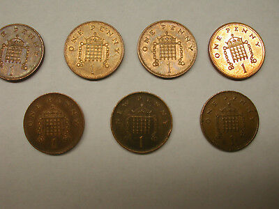GREAT BRITAIN UK One Penny & New Penny Mixed Dates Lot of 12 Coins Decimal