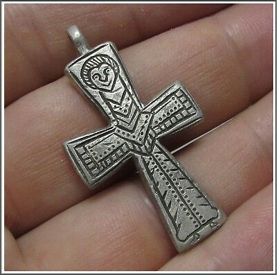 Ancient Silver Byzantine ** CROSS **AMAZING**