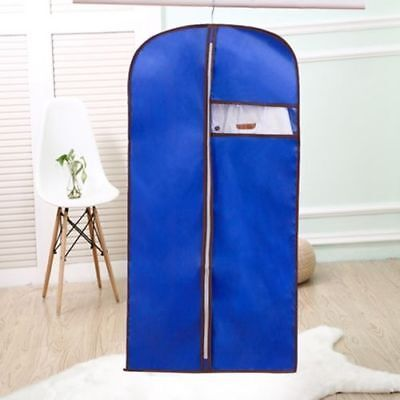 Blue Storage Protect Cover Travel Bag for Garment Dress Clothes Coat Jacket 1266