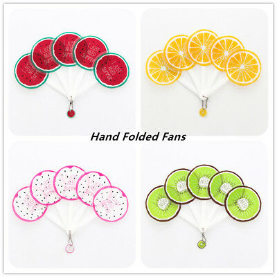 Summer Hand Fans Plastic Portable Fans Fruit Folding Fans Party Handheld Folded