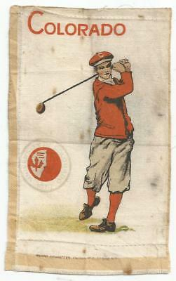 Large 1912 Murad Tobacco Silk - Colorado Golf - Good, but soiled