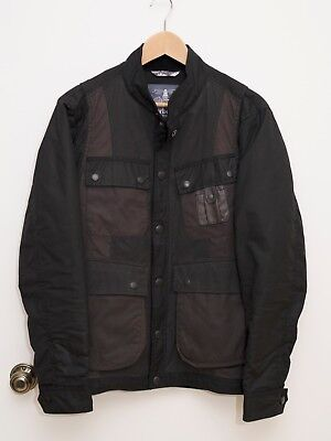 White Mountaineering x Barbour Black Kirknasu Waxed Cotton Field Jacket Insuated