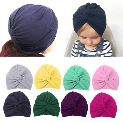 Cute Baby Hat Cotton Soft Turban Knot Summer Hat Newborn Cap For Baby Girls 1PC