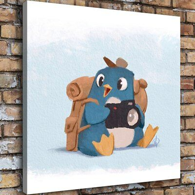 Watercolor Animal Cute Home Decor Room HD Canvas Print Picture Wall Art Painting