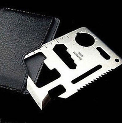 Card Knife 11 in 1 Hunting Survival Camping Military Credit Multi Pocket Tools