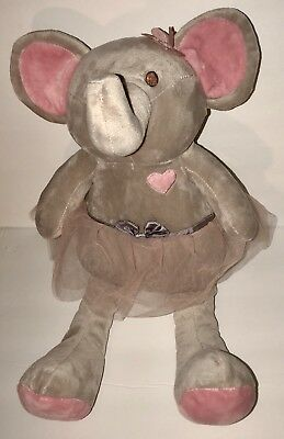 """16"""" Bella Plush Toy Elephant in Pink Tutu by The Peanut Shell - FAST SHIPPING!"""