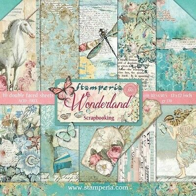 Stamperia Wonderland 12 x 12 Paper Collection