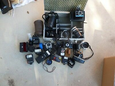 Collection of Vintage Camera,,Lens,Extc.Fraction of true value.