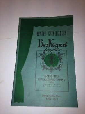 Old Vintage 1941 Bee Keepers Supply Catalog Marshfield Wisconsin
