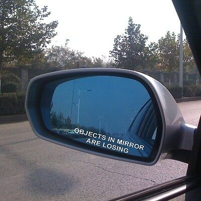 2 Pcs New Hot Rearview Mirror Window OBJECTS IN MIRROR ARE LOSING Decal Sticker