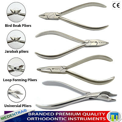 Orthodontic Lab Jarabak Bird Beak Universial Bending Loop Forming Pliers 4Pcs CE