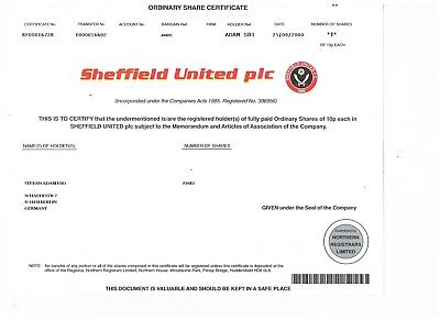 Sheffield United plc, 2000
