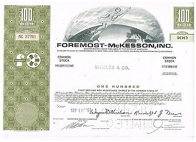 Foremost-McKesson, Inc., 1960s, olive