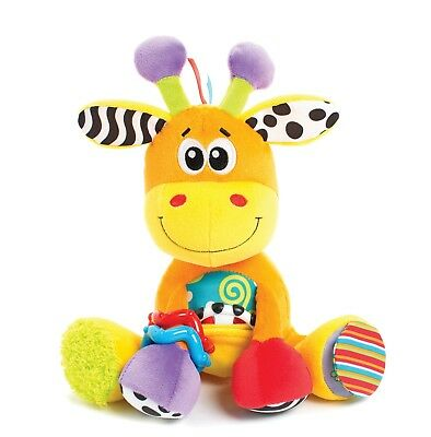 New Playgro Activity Discovery Friend Giraffe Teething Rattle Squeak Toy 0m+
