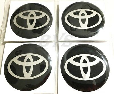 4 pcs 50 mm Black Resin Wheel Center Cap Logo Badge Sticker Use For Toyota