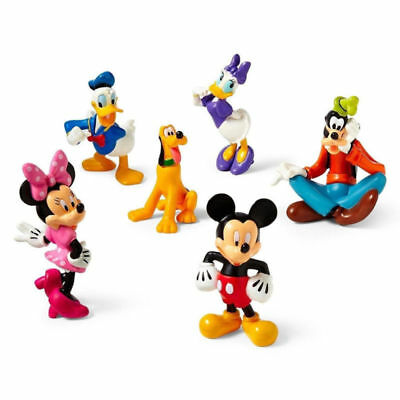 6Pcs/SET Mickey Mouse Clubhouse  Figures Collection PVC Toy Playsets Cake Topper