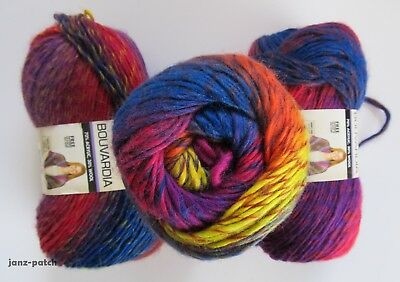 3 x 100g Moda Vera Bouvardia Knitting Yarn Wool Acrylic 80251344 Sunspot