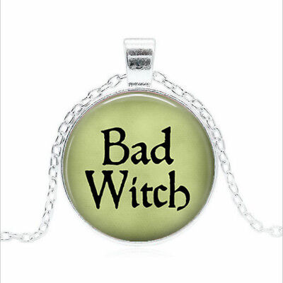 BAD WITCH Tibet silver Glass dome Necklace chain Pendant Wholesale