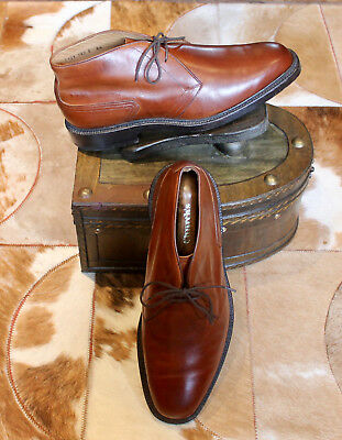 Mens Henry Maxwell Bootmakers Brown Leather Ankle Boots Uk 8 5